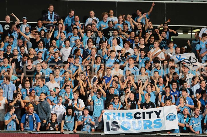Sydney FC fans in the Hyundai A League